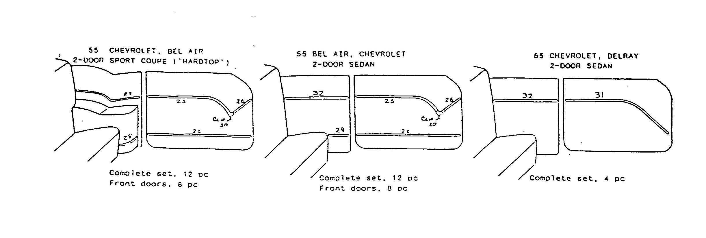 1955 chevy door panel blowup